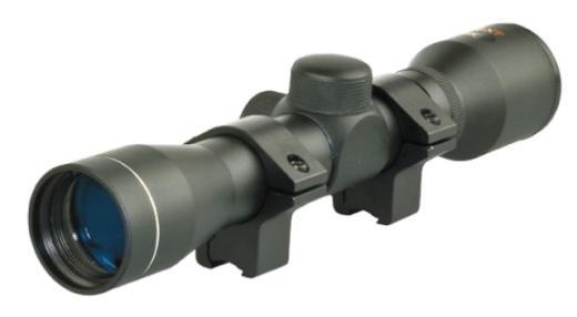 SMK 4x32 AIR RIFLE SCOPE+PAIR 9-11MM MOUNTS